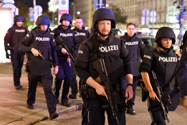 5 dead, 15 wounded in Vienna terror attack
