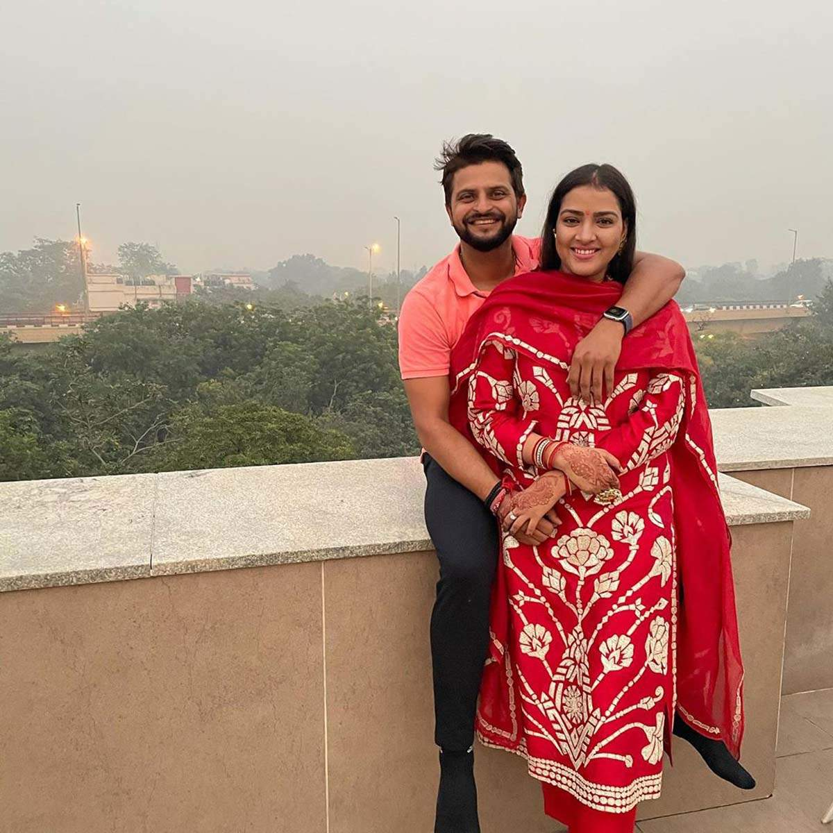 These pictures prove former cricketer Suresh Raina is the perfect family man