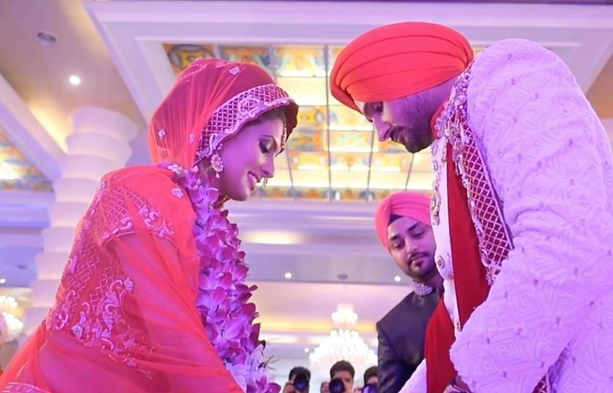 Geeta Basra and Harbhajan Singh share priceless throwback photos from their wedding ceremonies