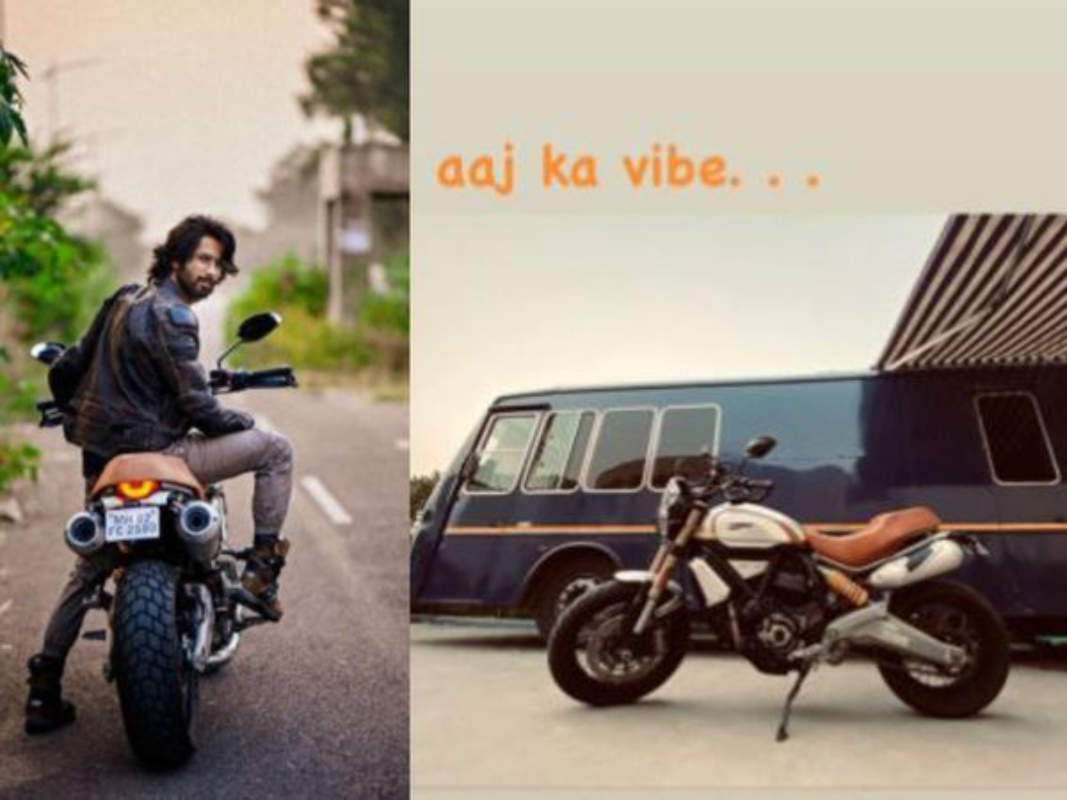 Shahid Kapoor looks dapper as he gears up for morning ride; shares stunning pictures