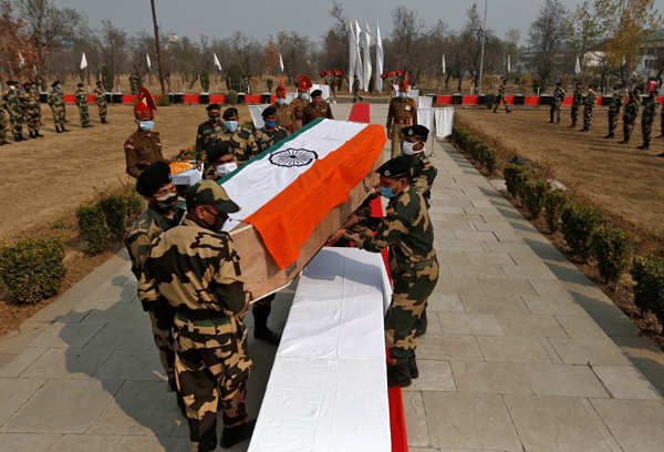 Wreath-laying ceremony of BSF jawan held in Srinagar