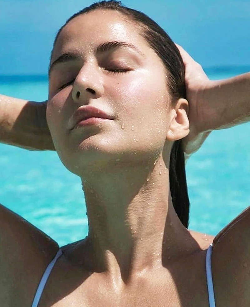 Katrina Kaif is teasing fans with her new pictures from the beaches of Maldives