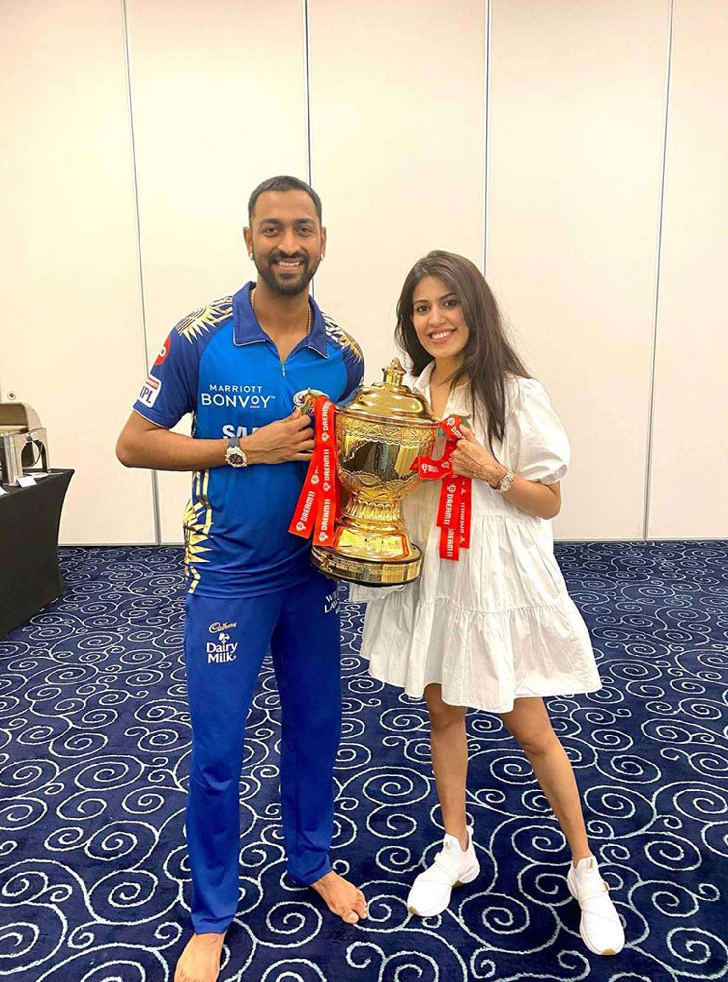 MI players celebrate 2020 IPL victory with their wives and girlfriends