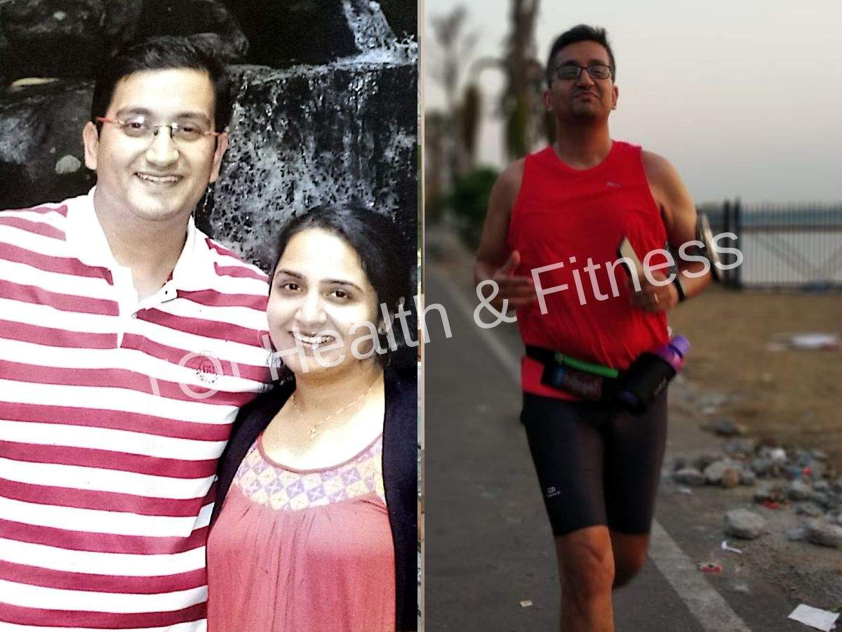 Weight loss: This man lost 30+ kilos with running and giving up processed food!  | The Times of India