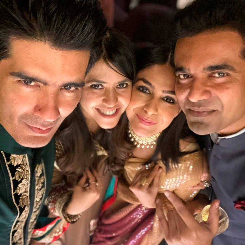 Inside pictures from TV czarina Ekta Kapoor's star-studded Diwali party