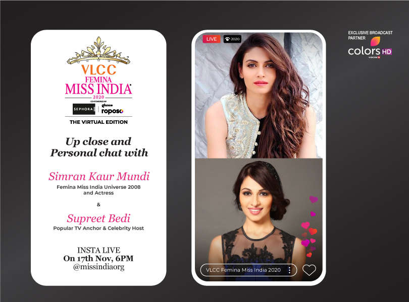 Stay tuned as we go live with Simran Kaur Mundi and Supreet Bedi
