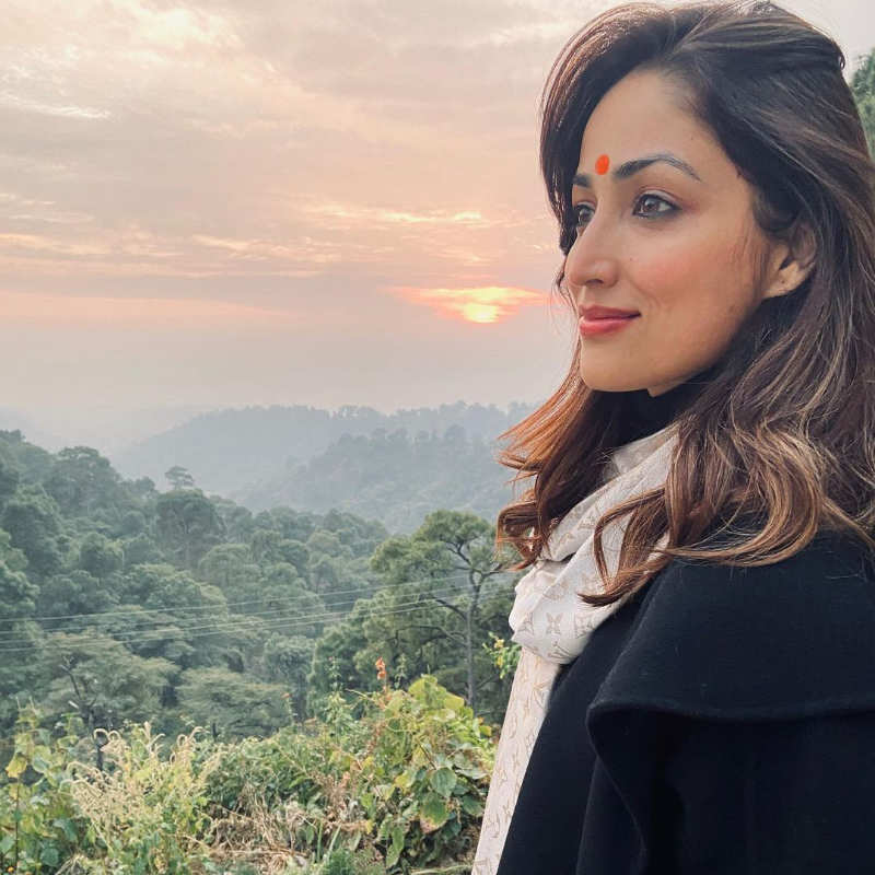 Yami Gautam visits a temple in Himachal Pradesh; says my job gives me opportunity to travel