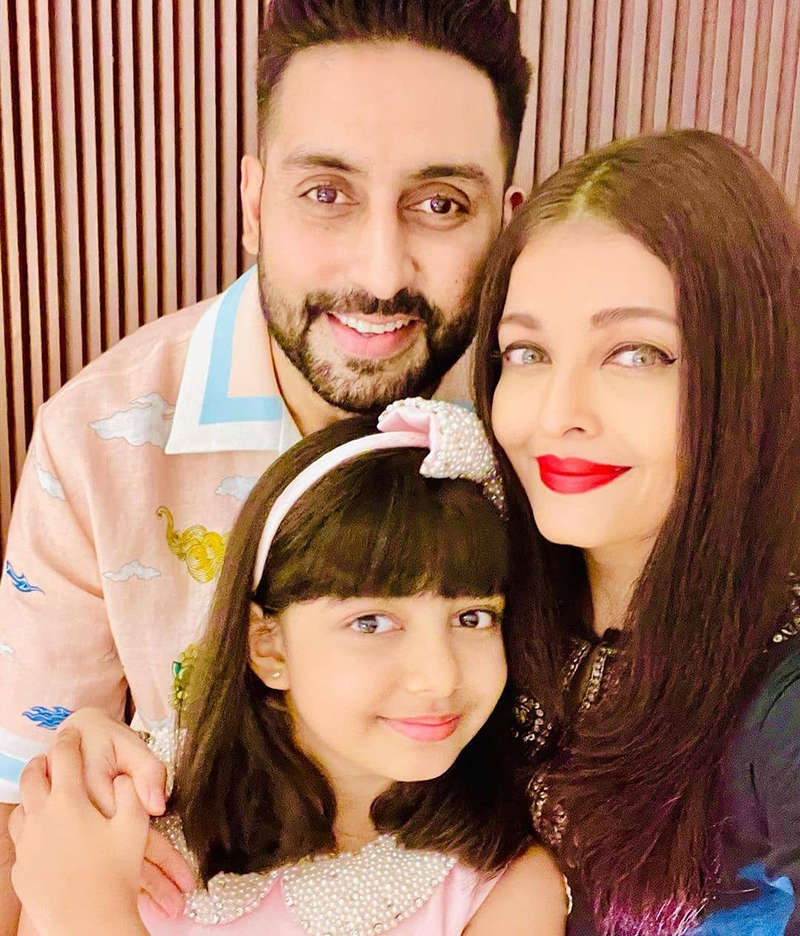 Adorable pictures of Aaradhya Bachchan with Abhishek and Aishwarya from her birthday celebration
