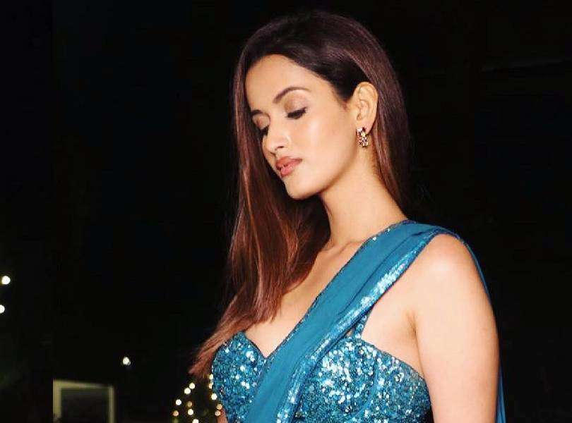 Shivani Jadhav alluring in the color of magic -Blue