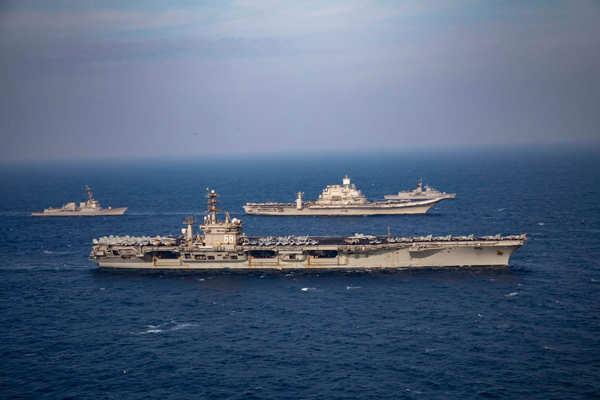 Phase II: Malabar 2020 Naval exercise underway in Arabian Sea