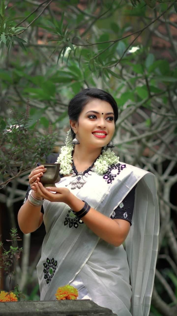 Kerala Saree look