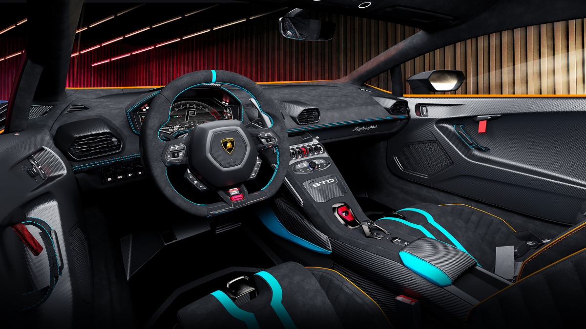 Interiors that amplify the racing DNA