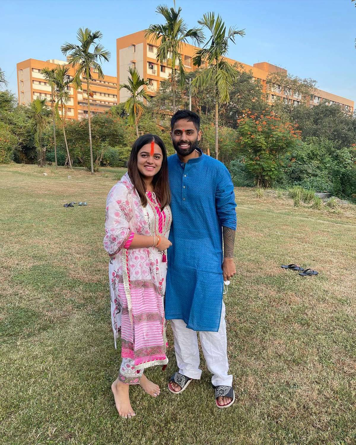 Picture perfect moments of cricketer Suryakumar Yadav and his wife Devisha