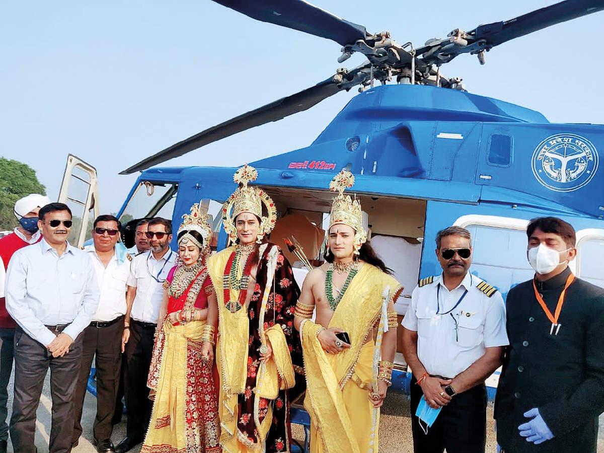 Arun (right) as Lakshman in Ayodhya on Diwali (BCCL)