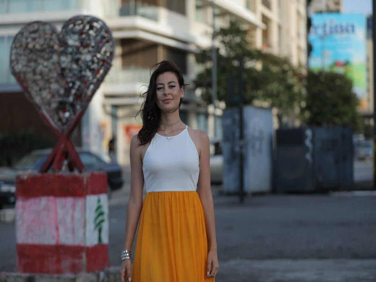 Lebanese artist Hayat Nazer creates a symbol of hope from August 4 Beirut blast debris
