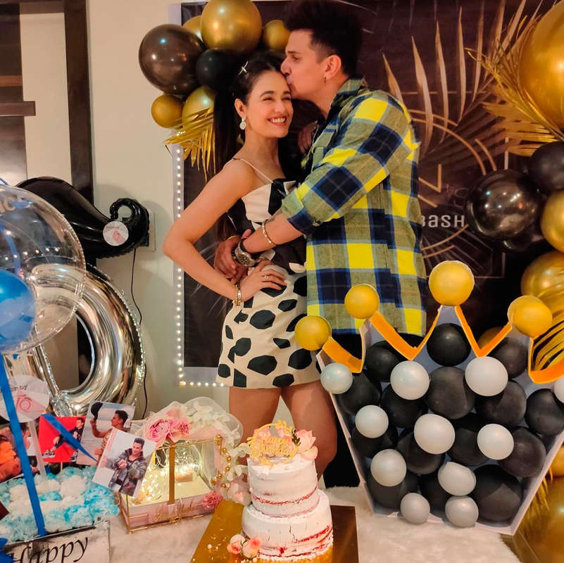 Yuvika Chaudhary throws surprise birthday party for hubby Prince Narula