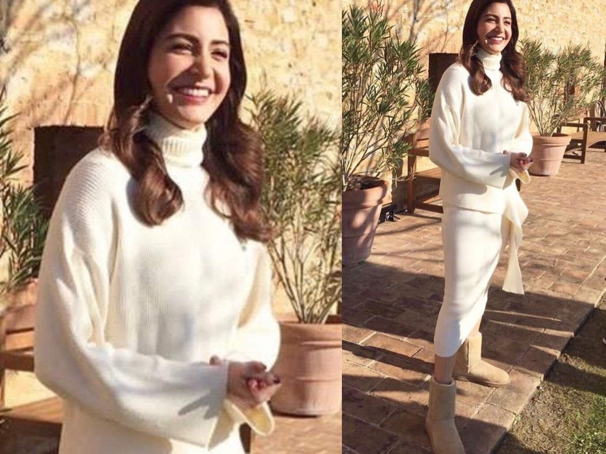 Anushka Sharma all white look