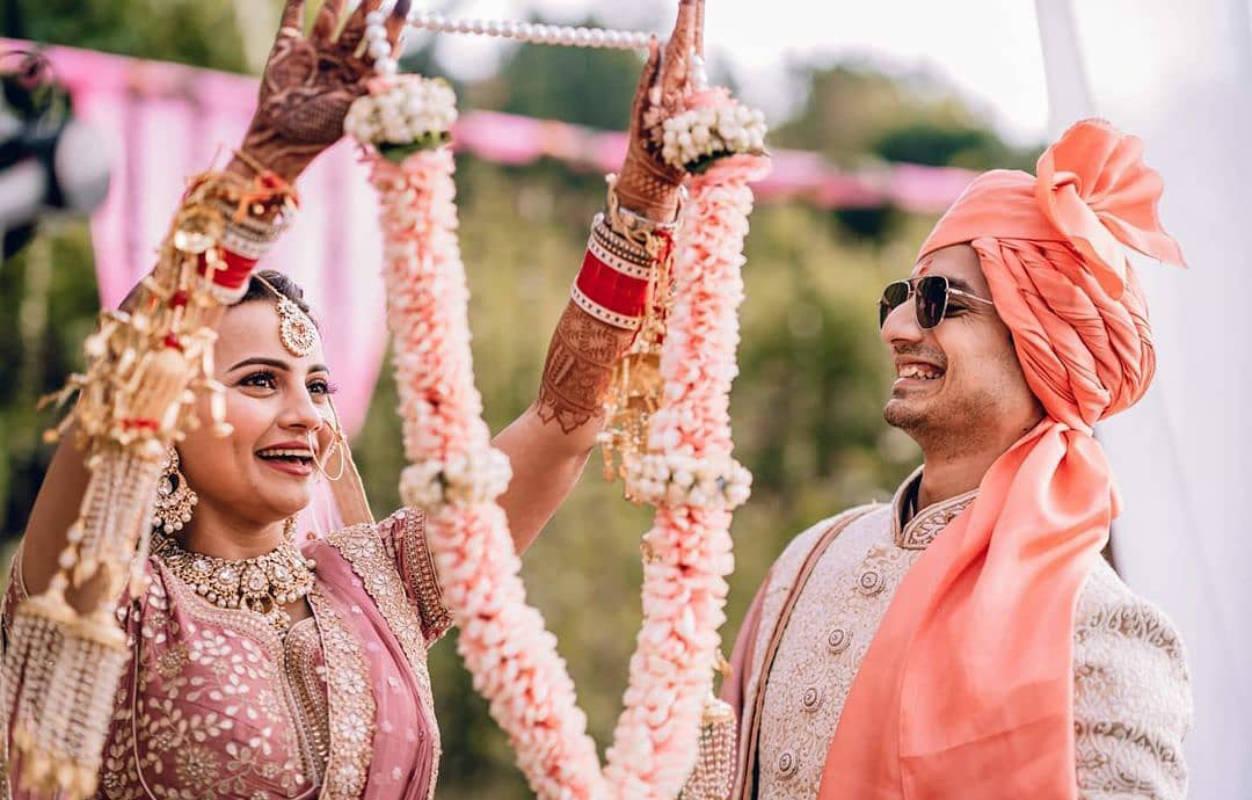 Lovely pictures from Priyanshu Painyuli and Vandana Joshi's intimate wedding ceremony