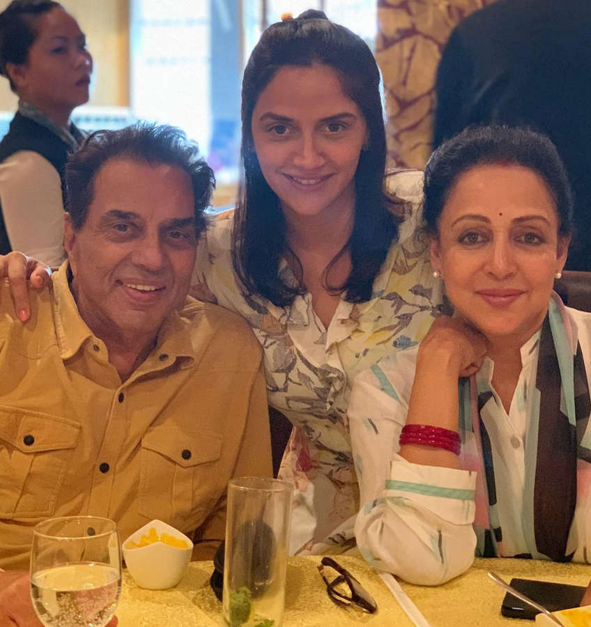 Grandparents Hema Malini and Dharmendra are 'overjoyed' as Esha Deol's sister Ahana Deol welcomes twin girls