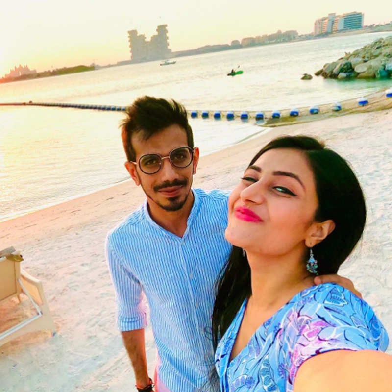 Pictures of Yuzvendra Chahal and fiance Dhanashree Verma go viral on social media