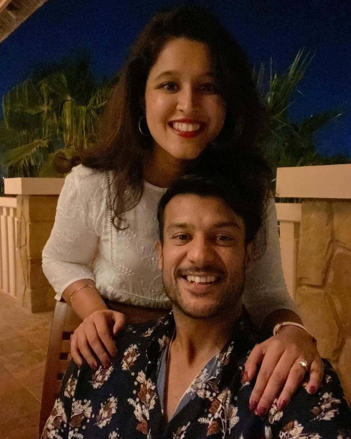 Cricketer Mayank Agarwal and wife Aashita Sood  share new pictures from Dubai