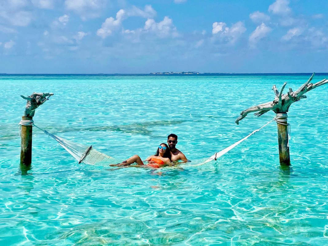 Armaan Jain shares stunning pictures with wife Anissa Malhotra from Maldives vacation