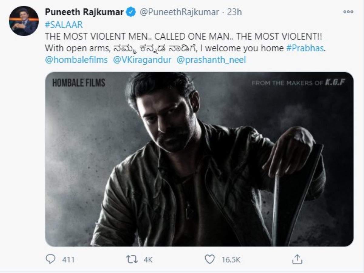 Puneeth Rajkumar Tweet