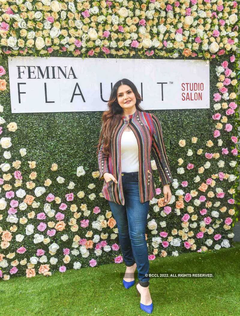 Zareen Khan launches Femina FLAUNT Studio Salon