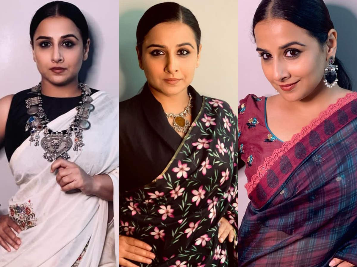 Vidya Balan wore 3 saris in 24 hours and we can't decide which one is our favourite  | The Times of India
