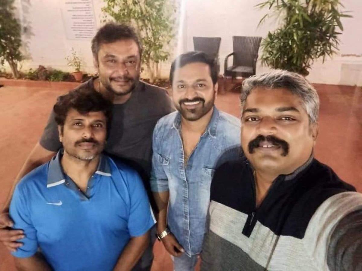 Darshan with Rishab Shetty's team