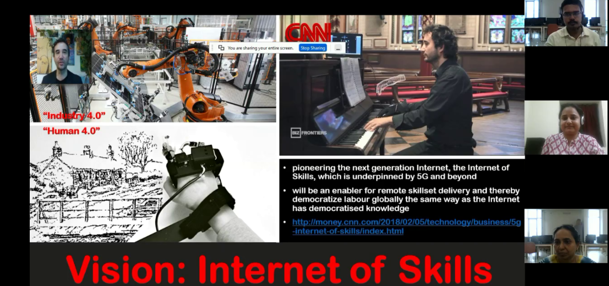 In few years, skills would be transmitted through internet