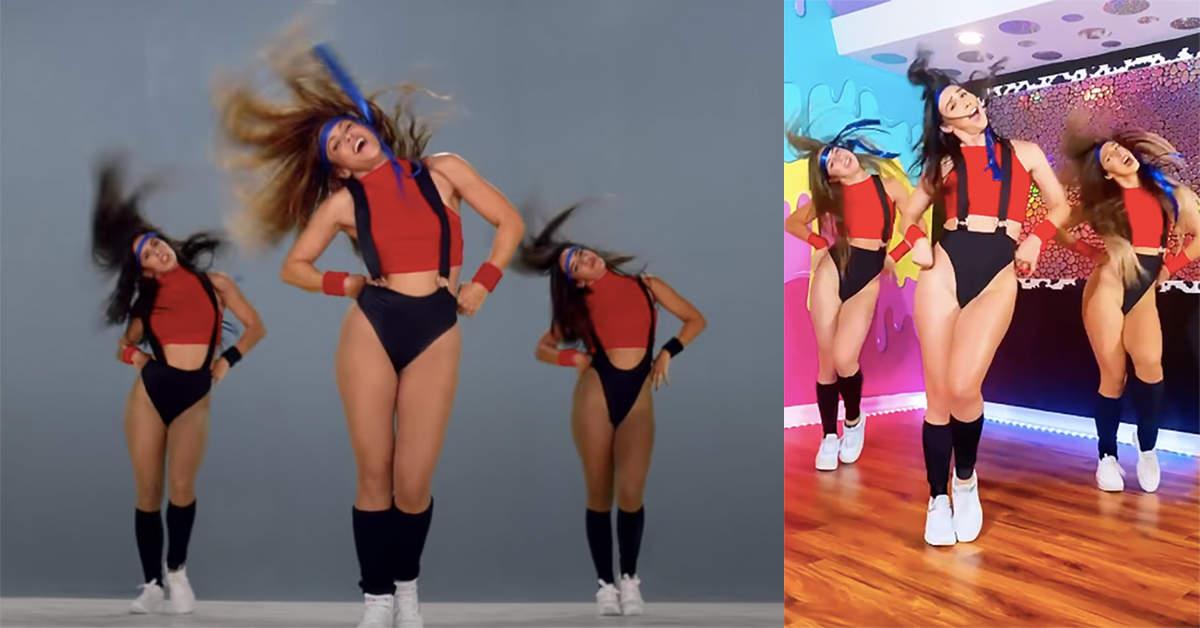 Lauren Gottlieb kills it in Shakira's moves in 'Girl like me' by Black Eyed Peas