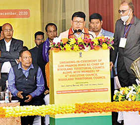 Assam: Pramod Boro takes oath as BTC chief, vows to work for all communities