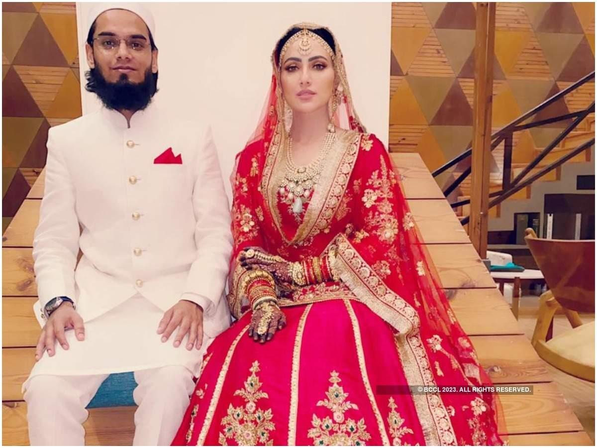 Maulana Anas Saiyad and Sana Khan