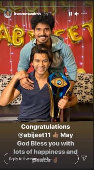 Varun congratulates Abhijeet
