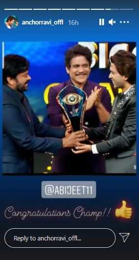 Ravi congratulates Abhijeet