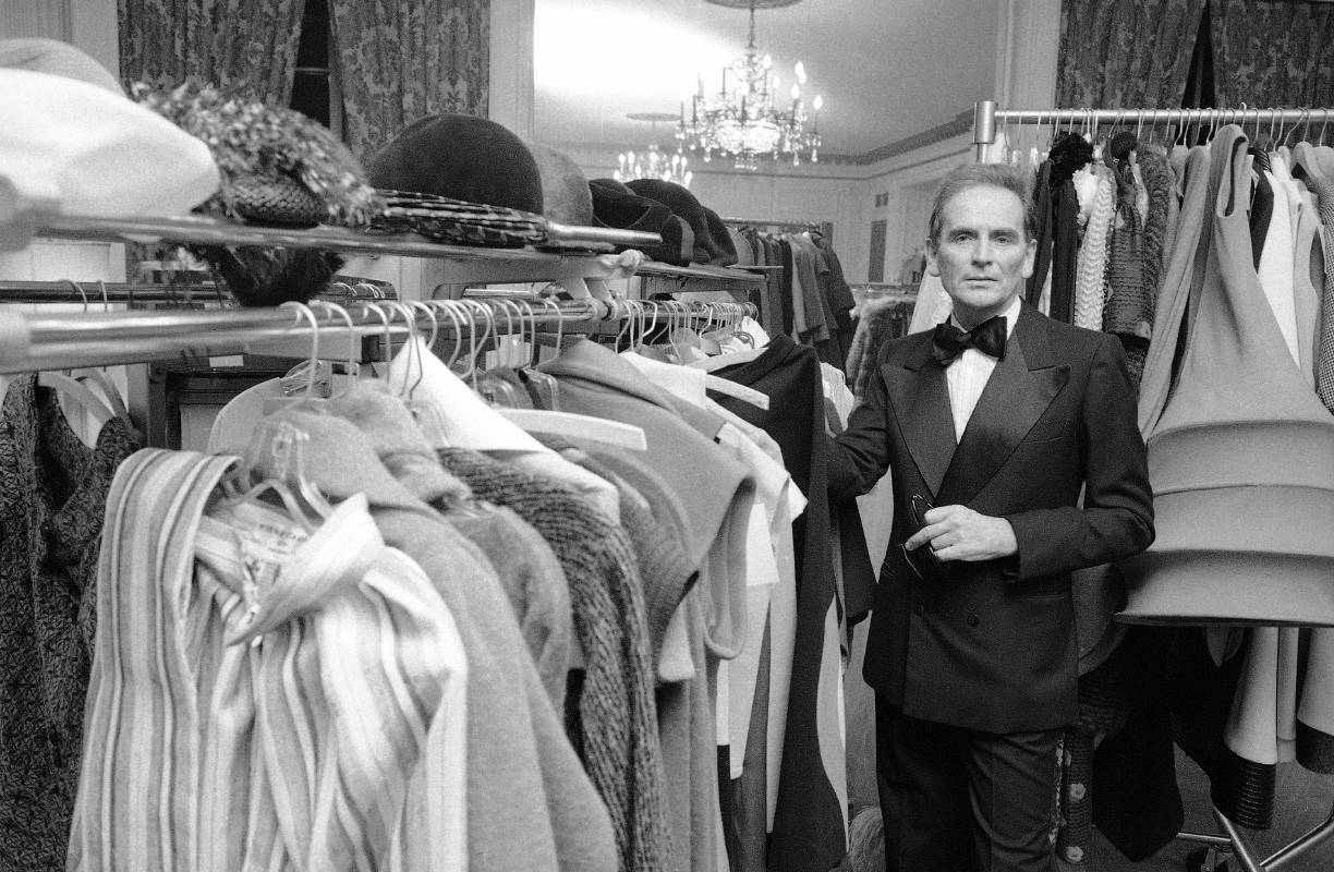 Rare pictures of the father of fashion branding Pierre Cardin, who passes away at 98