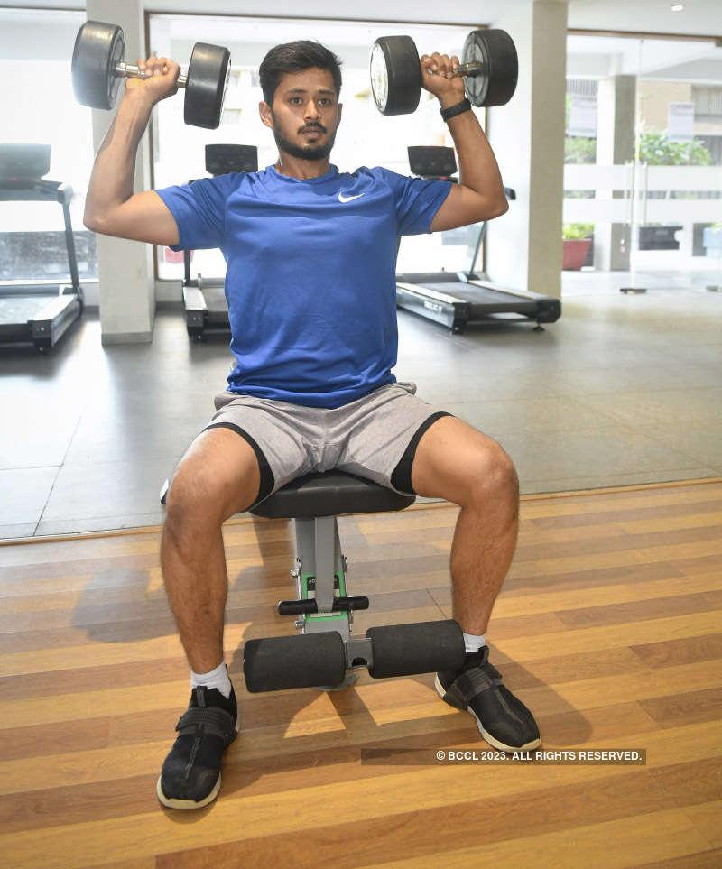Cricketer Priyank Panchal resumed training
