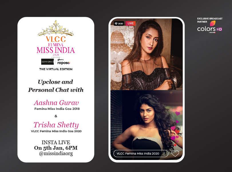 Stay tuned as Aashna Gurav goes live with VLCC Femina Miss India Goa 2020 Trisha Shetty!
