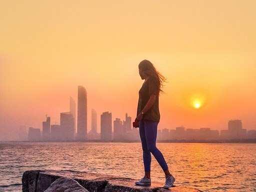 Chasing the winter sun in Abu Dhabi