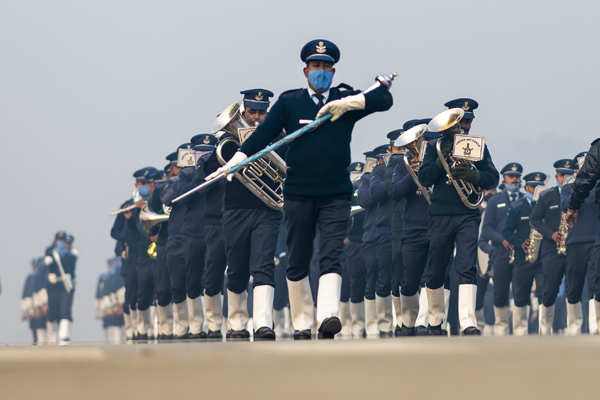 Rehearsal for Republic Day parade held in New Delhi