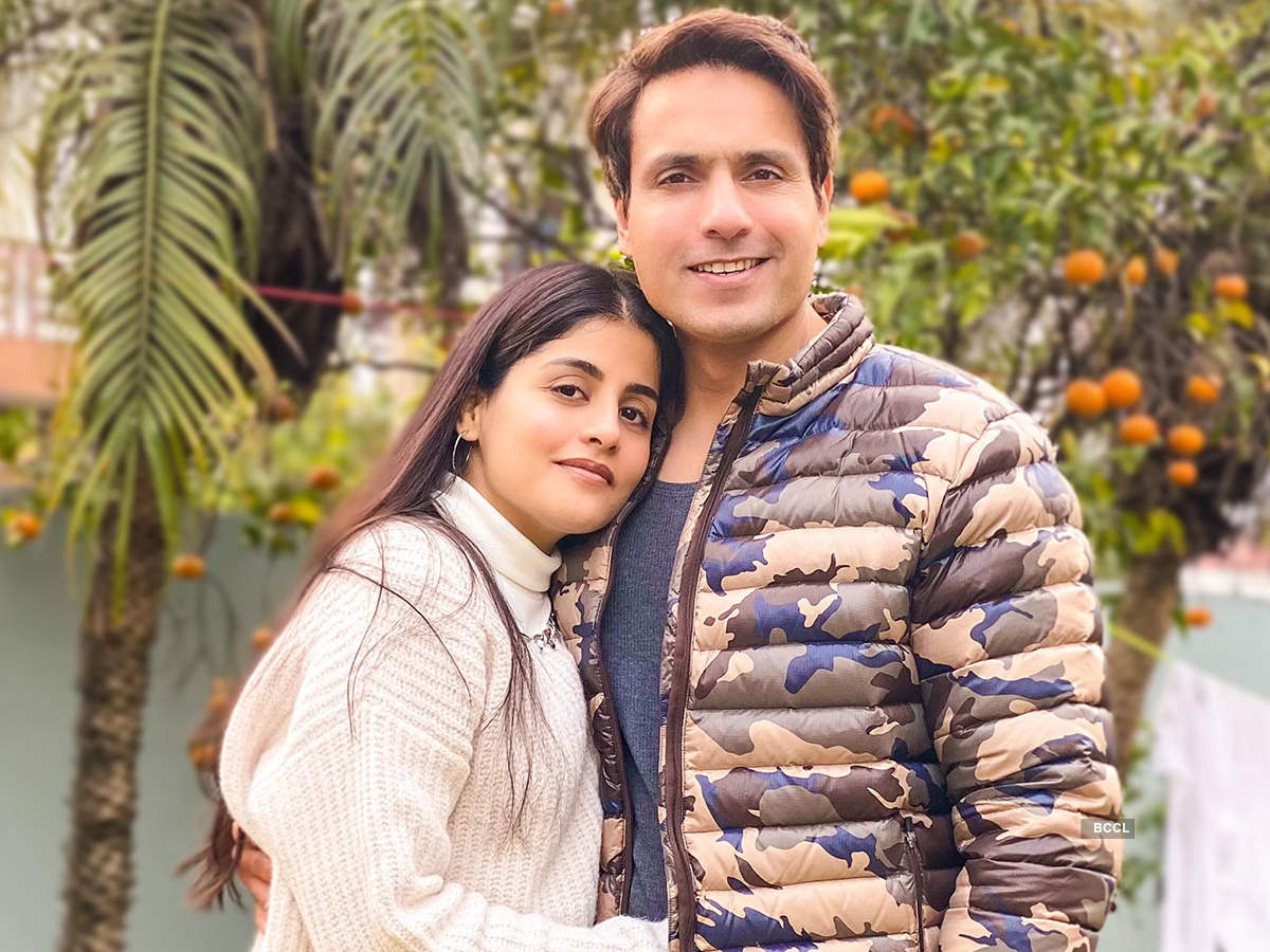 Iqbal with wife Sneha during their  Jammu trip (BCCL)
