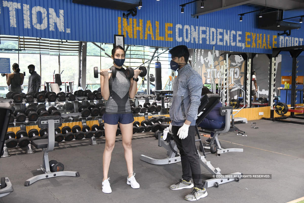 Swimming champ Maana Patel resumed gym training in the city