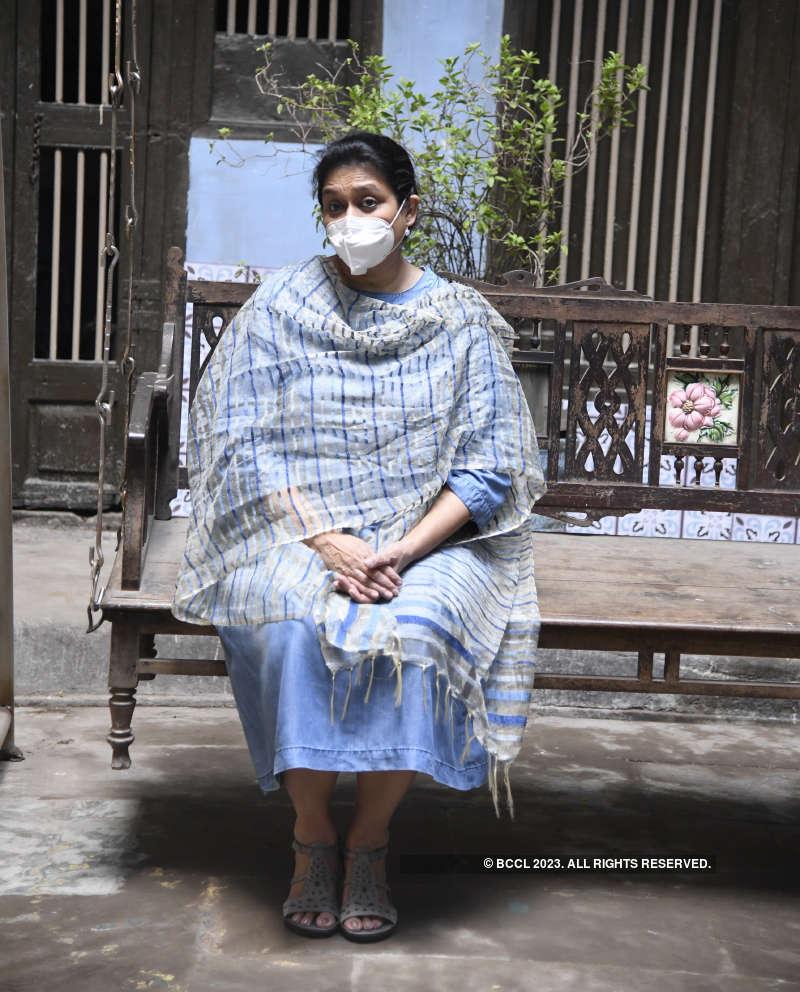 Supriya Pathak and Siddharth Randeria shoot in Ahmedabad