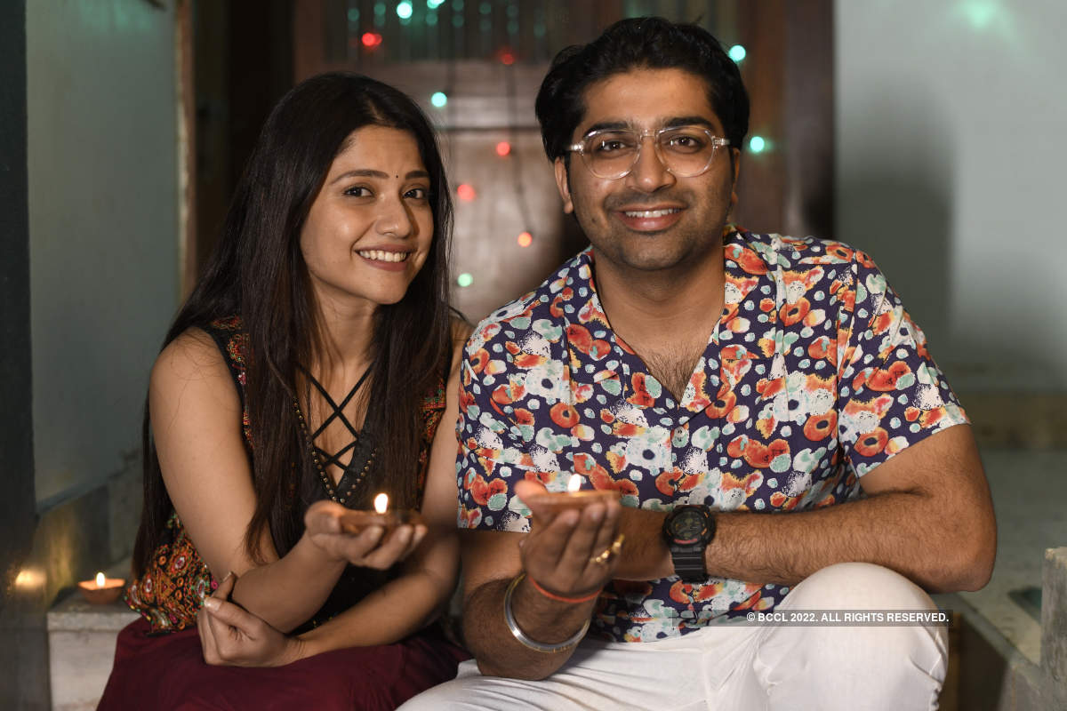 Gujarati actors Malhar Thakar and Kinjal Rajpriya geared up for a low-key and safe festive season ahead of Diwali
