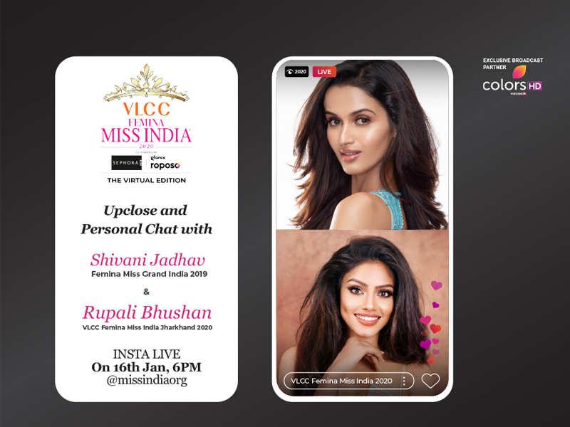 Stay tuned as Shivani Jadhav goes live with VLCC Femina Miss India Jharkhand 2020 Rupali Bhushan!