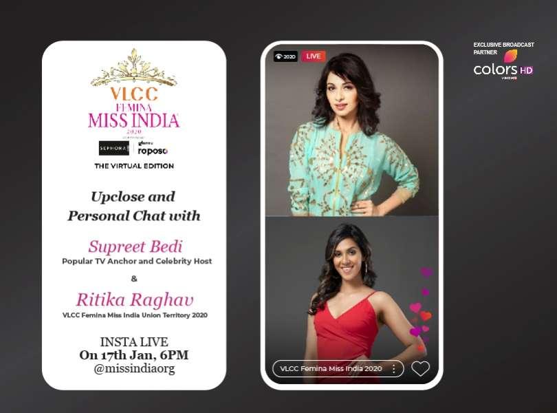 Stay tuned as Supreet Bedi goes live with VLCC Femina Miss India Union Territory 2020 Ritika Raghav!