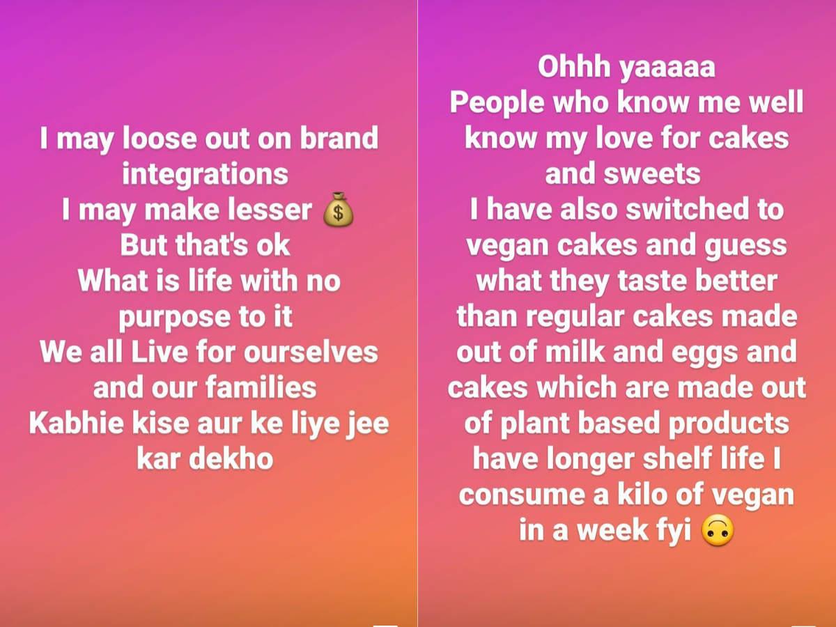 Rashmi backs vegan products