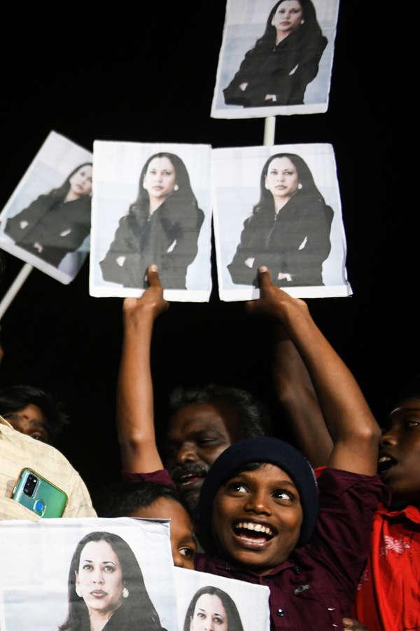Kamala Harris' ancestral village celebrates as she takes oath