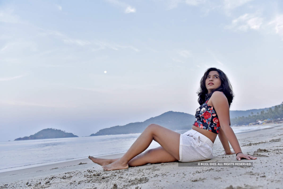 Mrunmayee Deshpande's exclusive photoshoot on Palolem beach in Goa